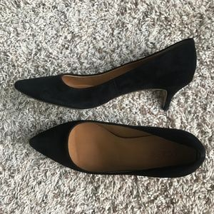 J. Crew Shoes - J Crew Black Suede Heels